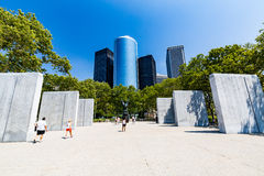 NEW YORK - AUGUST 24, 2015. NEW YORK - AUGUST 24: Views of the Battery Park in Manhattan New York on August 24, 2015. In 2015, the NYC Dep. of Parks announced Royalty Free Stock Photography