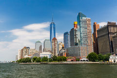 NEW YORK - AUGUST 24, 2015. NEW YORK - AUGUST 24: Views of the Battery Park in Manhattan New York on August 24, 2015. In 2015, the NYC Dep. of Parks announced Royalty Free Stock Photo