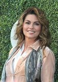 Canadian country singer and songwriter Shania Twain on the blue carpet before US Open 2017 opening night ceremony Royalty Free Stock Image