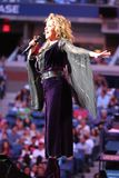 Canadian country singer and songwriter Shania Twain performs at 2017 US Open opening night ceremony. NEW YORK - AUGUST 28, 2017: Canadian country singer and Royalty Free Stock Images