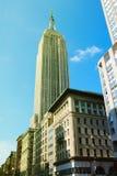 NEW YORK - 25. AUGUST 2018: Die Fassade des Chrysler-Gebäudes, dargestellt am 12. März 2010 in New York lizenzfreie stockbilder