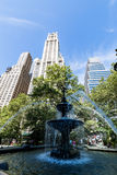 NEW YORK - AUGUST 22. Exterior view to the skyscraper Woolworth Building on August 22, 2015. Its a famous and historic building in New York and it was the Stock Photography