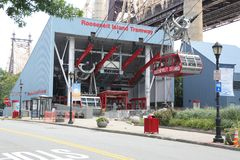 The famous Roosevelt Island Tramway Stock Image