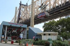 The famous Roosevelt Island Tramway Stock Photography