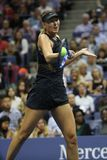 Five times Grand Slam Champion Maria Sharapova of Russia in action during her US Open 2017 first round match Royalty Free Stock Photos