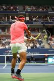 Grand Slam champion Rafael Nadal of Spain in action during his US Open 2017 first round match Stock Image