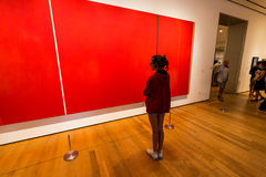NEW YORK - AUGUST 23, 2015. NEW YORK - AUGUST 23: Inside views of the Museum of modern art in New York on August 23, 2015. This is one of the most popular and Stock Image