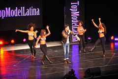 NEW YORK - AUGUST 08: Performances at Top Model Latina 2014 Royalty Free Stock Photo