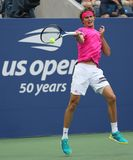 Professional tennis player Alexander Zverev of Germany in practice for 2018 US Open at Billie Jean King National Tennis Center royalty free stock images