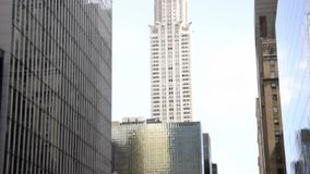 New York,August 3rd:Crysler Tower Building from Manhattan in New York City stock video footage