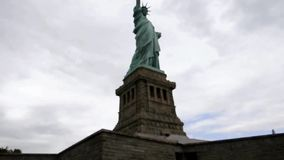 New York,August 3rd:Statue of Liberty from Statue Island from Hudson river in New York City stock footage