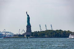 NEW YORK - AUGUST 23, 2015. Statue liberty, New York in August 2015 Royalty Free Stock Photography