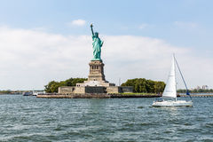 NEW YORK - AUGUST 24, 2015. Statue liberty, New York in August 2015 Stock Photos