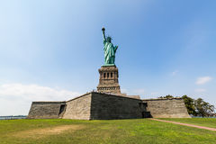 NEW YORK - AUGUST 24, 2015. Statue liberty, New York in August 2015 Royalty Free Stock Image