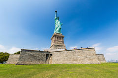 NEW YORK - AUGUST 24, 2015. Statue liberty, New York in August 2015 Stock Photo