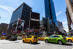 NEW YORK - AUGUST 22. View to the 8th Av from W33rd Street in New York on August 22, 2015. Its in the district of West Midtown, New York Stock Photography