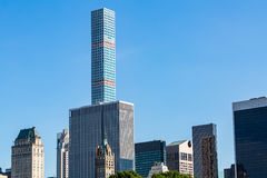 NEW YORK - AUGUST 22. Views to the new Skyscraper Manhattan Tower from the Central Park on August 22, 2015. The Manhattan Tower is the second highest Royalty Free Stock Photos