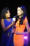 NEW YORK - AUGUSTI 08: Vinnare av den Montano för Top Model Latina Verà ³nica överst modellen 2014 Latina 2014 Arkivfoton