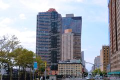 NEW YORK - AUGUSTUS 26, 2018: De Stad van New York stock fotografie