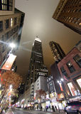 New york Av 006. New York city lights and Empire state building skyscrapper during night shot Royalty Free Stock Image
