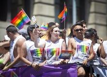 New York bög Pride March royaltyfri foto