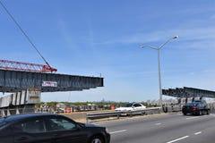 New york belt pkwy bridge construction progress Stock Photo