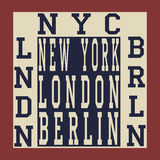 New york Berlin London stock illustration