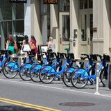 New York bicycles Stock Images