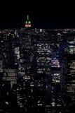 New York bij nacht Stock Fotografie