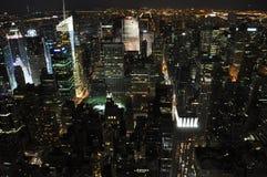 New York bij Nacht Royalty-vrije Stock Foto