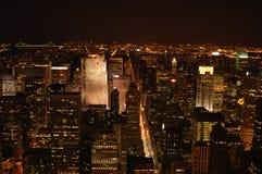 New York bij nacht Royalty-vrije Stock Afbeelding