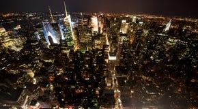 New York bij nacht Stock Afbeeldingen