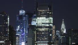 New York bij nacht royalty-vrije stock afbeeldingen