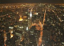 New York bij nacht Stock Foto