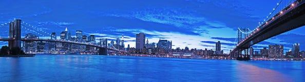 New York bij nacht Royalty-vrije Stock Fotografie