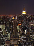 New York bij nacht royalty-vrije stock foto's