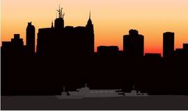 New York bij Vroege Ochtend -  Royalty-vrije Illustratie
