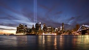 New York bij zonsondergang Royalty-vrije Stock Afbeeldingen