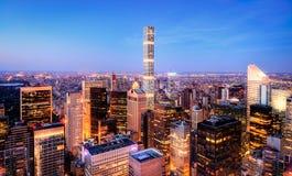 New York bij zonsondergang Stock Afbeelding