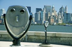 New york binoculars Stock Image