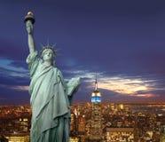 New York bis zum Nacht Lizenzfreies Stockbild