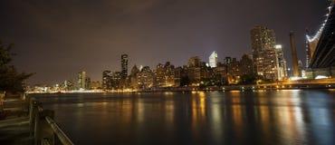 New York bis zum Nacht - Midtown von Manhattan Lizenzfreie Stockbilder