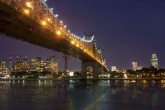 New York bis zum Nacht - Stadtmitte von Manhattan Lizenzfreie Stockfotografie