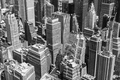 New York in black and white. New York City, USA - May 20, 2014: Part of New York from above in black and white Stock Photo