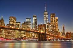 New York & Blauw Uur royalty-vrije stock afbeelding