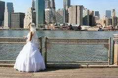 New York Bride Stock Photo