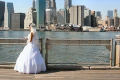 New York Bride Stock Photo