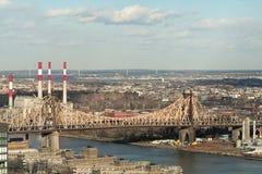 New York bridge. In manhattan royalty free stock images