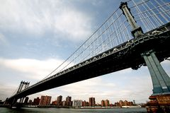 New york bridge. The manhattan famous bridge in new york city Stock Image