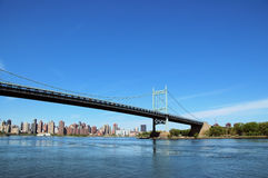 New York Bridge. Bridge and Skyline Stock Photo